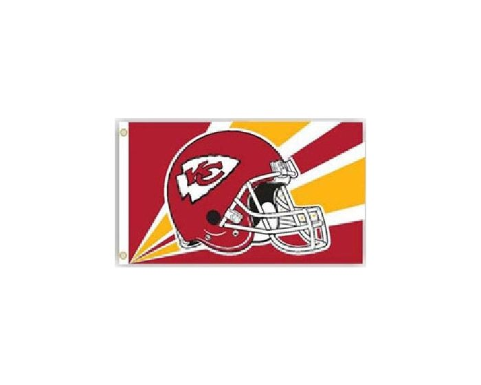 NFL Kansas City Chiefs 3 by 5 Foot Flag