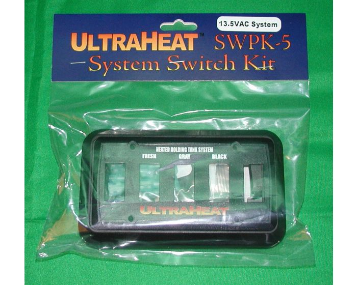 13.5 VDC 3 Gang System Kit Switch Package with Lighted Switches UltraHeat